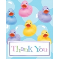 Rubber Ducky Baby Shower Thankyou Cards